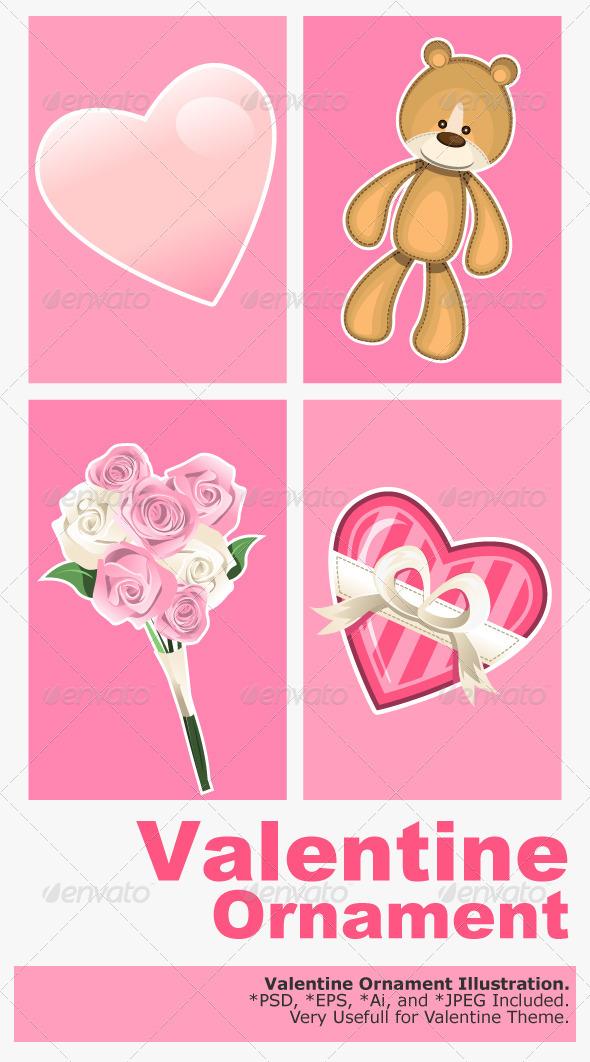 Valentine Ornaments - Valentines Seasons/Holidays