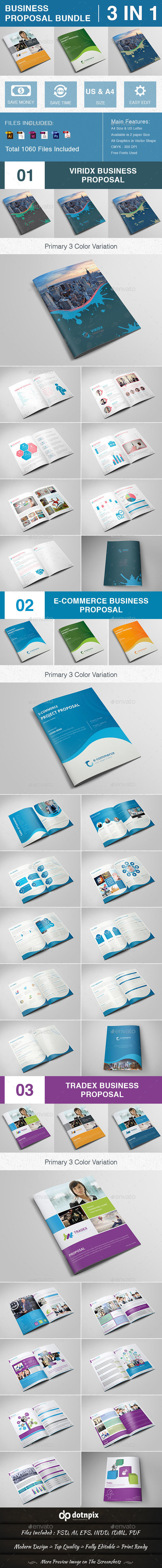Business Proposal Bundle | Volume 3 - Proposals & Invoices Stationery