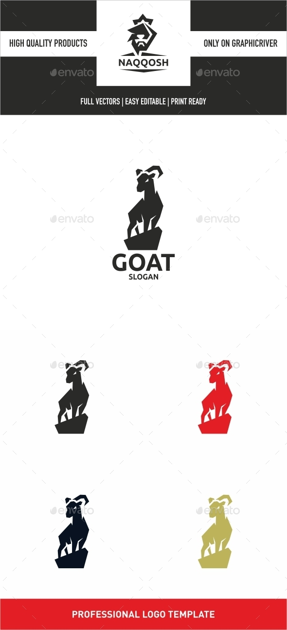 Goat - Animals Logo Templates