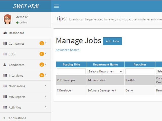hr applicant tracking system saas app by nkm swot codecanyon