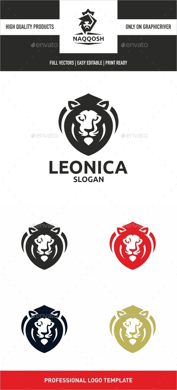 Leonica - Crests Logo Templates
