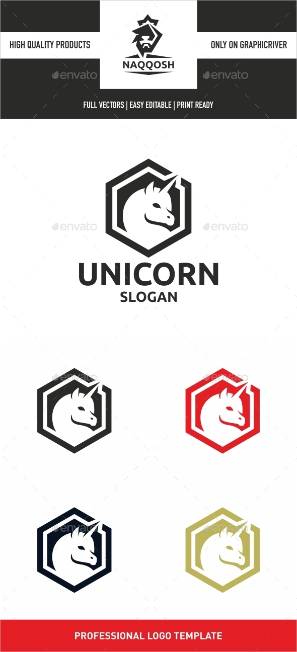 Unicorn - Symbols Logo Templates