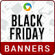HTML5 Black Friday sale Banners - GWD - 7 Sizes