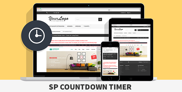 SP Countdown Timer - Responsive Prestashop Module - CodeCanyon Item for Sale