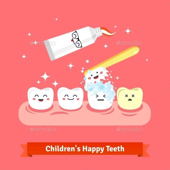 Tooth Hygiene Icon Set - Health/Medicine Conceptual