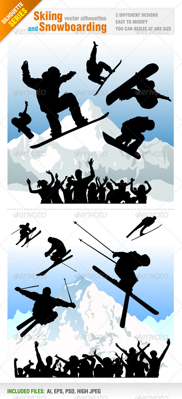 Skiing and Snowboarding Designs - Sports/Activity Conceptual