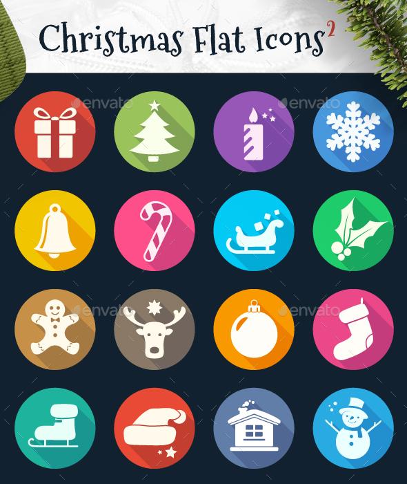 Christmas Flat Icons 2 - Seasonal Icons