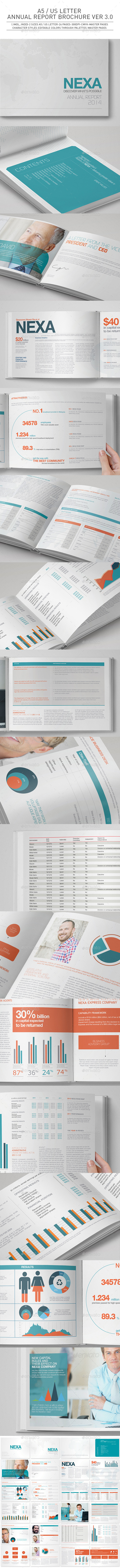 A5 / US Letter Annual Report Brochure Ver 3.0 - Corporate Brochures