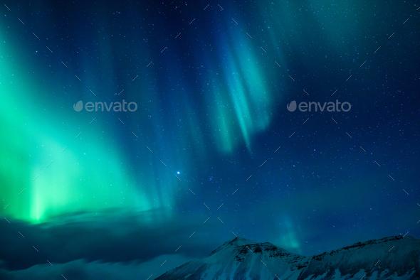 Amazing Northern light - Stock Photo - Images