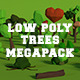 LowPoly Trees MegaPack Bundle