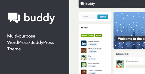 01 Buddy.  large preview - Buddy: Multi-Purpose WordPress/BuddyPress Theme