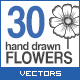 30 Hand Drawn Flowers - GraphicRiver Item for Sale