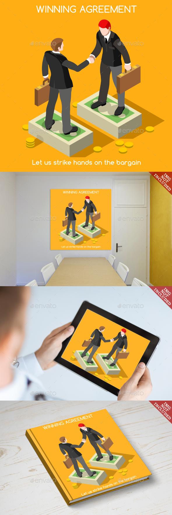Handshake 02 People Isometric - Concepts Business