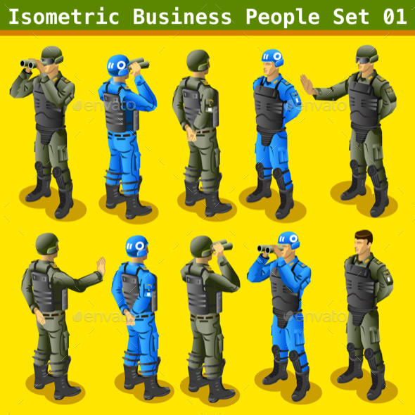 Soldier 01 People Isometric - People Characters