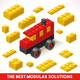 Toy Block Bus Games Isometric - GraphicRiver Item for Sale