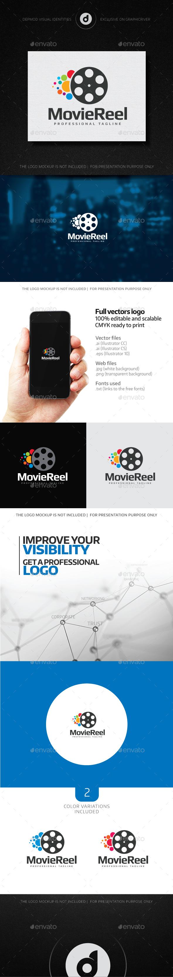 Movie Reel Logo - Objects Logo Templates