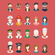 20 Cute Flat Animated Professions - VideoHive Item for Sale