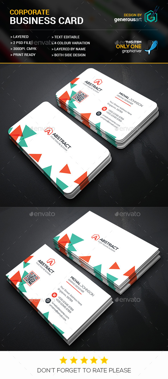 Colorful Creative Business Card - Corporate Business Cards