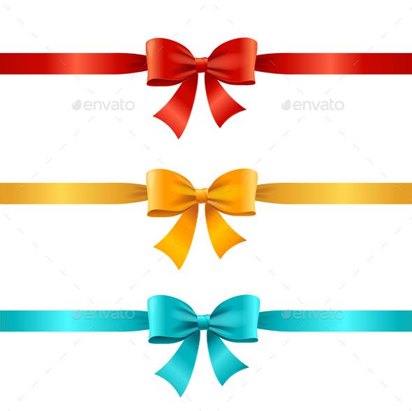 Bow and Ribbon Set. Vector - Seasons/Holidays Conceptual