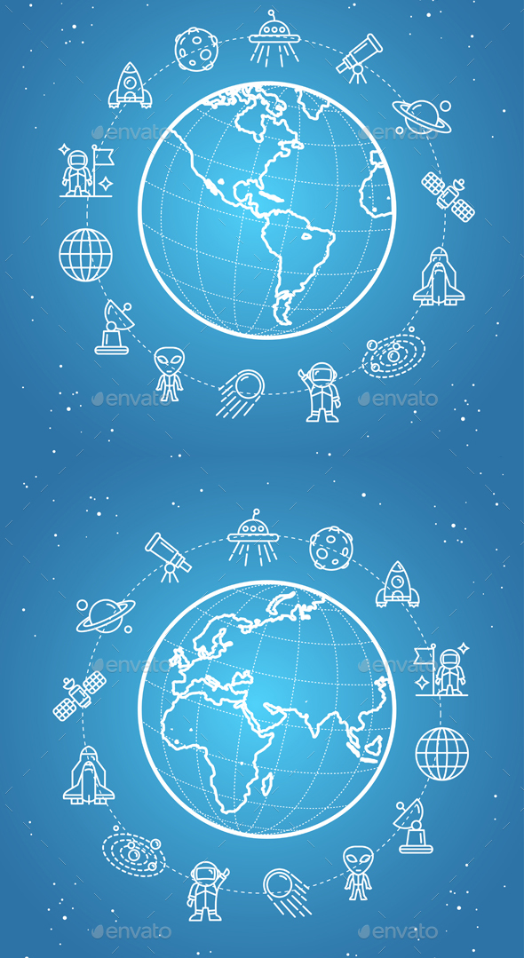 Space Icon Concept. Vector - Conceptual Vectors