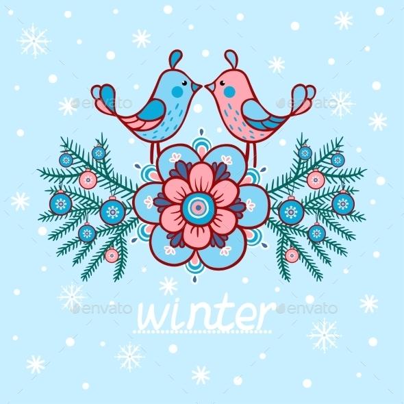 Christmas Card with Textbox - Christmas Seasons/Holidays
