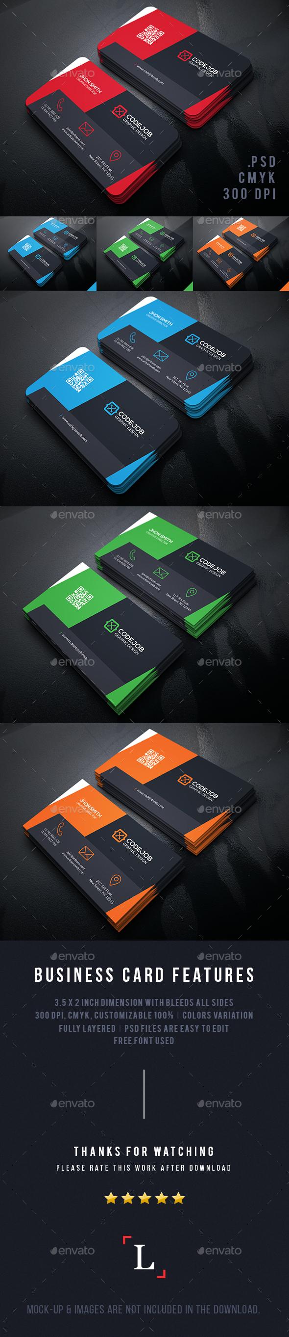 Shape Modern Business Cards - Business Cards Print Templates