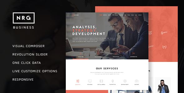 NRGbusiness – Powerful One Page Biz Theme