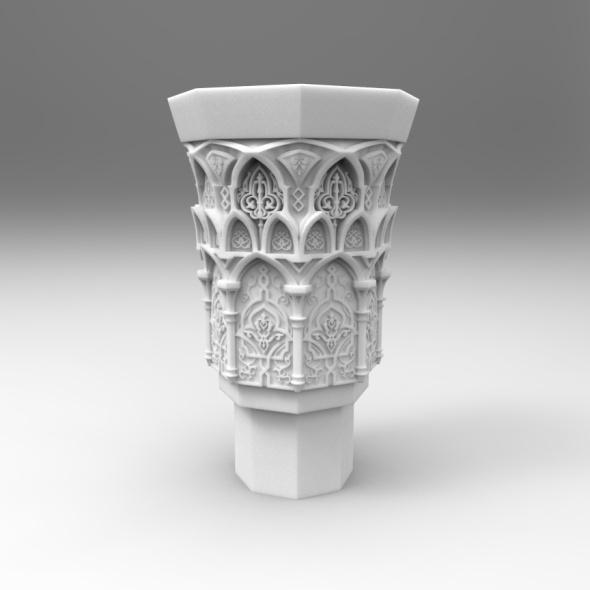 Oriental Column Top (Capital) - 3DOcean Item for Sale
