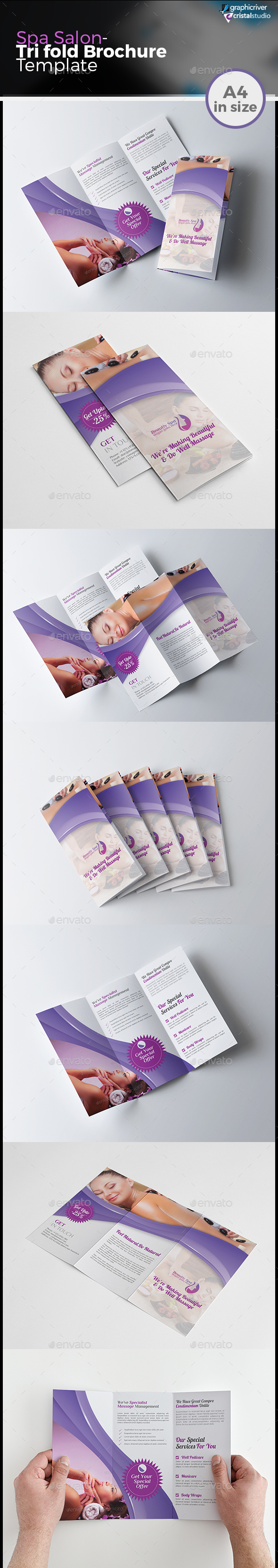 Salon & Spa Tri-fold Brochure - Corporate Brochures