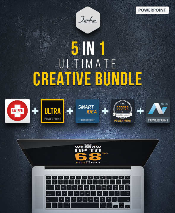 5 in 1 PowerPoint Creative Bundle - Creative PowerPoint Templates
