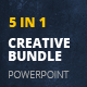 5 in 1 PowerPoint Creative Bundle - GraphicRiver Item for Sale