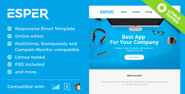 Esper – Responsive Email and Newsletter Template