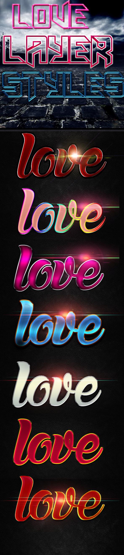 Love Layer Styles - Styles Photoshop
