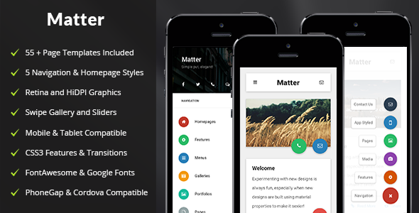 Matter | Mobile & Tablet Responsive Template