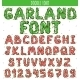 Font Garland. New Year And Christmas Alphabet - GraphicRiver Item for Sale