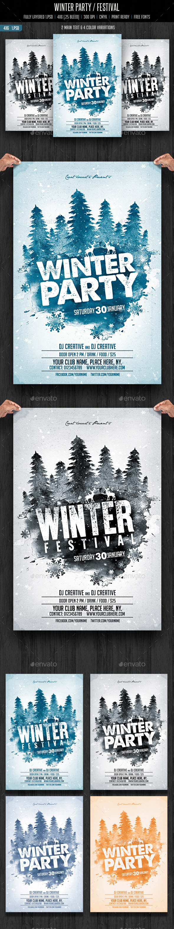 Winter Party / Festival - Clubs & Parties Events