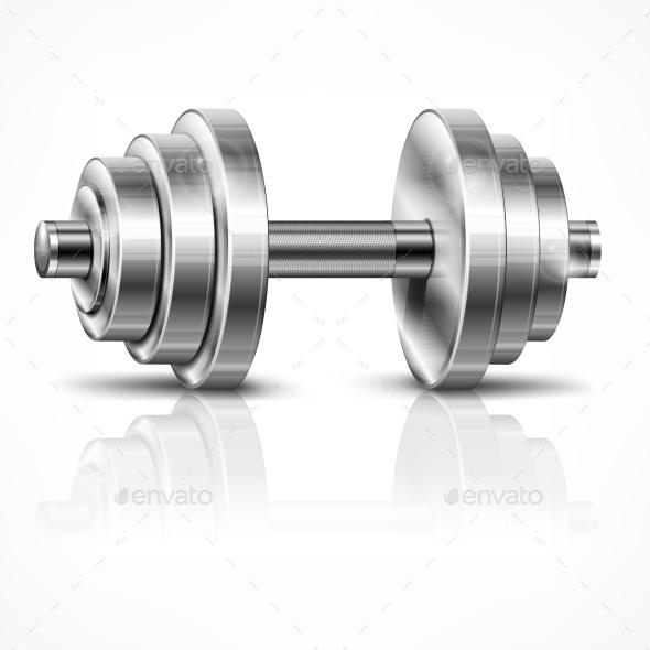 Metallic Dumbbell - Miscellaneous Vectors