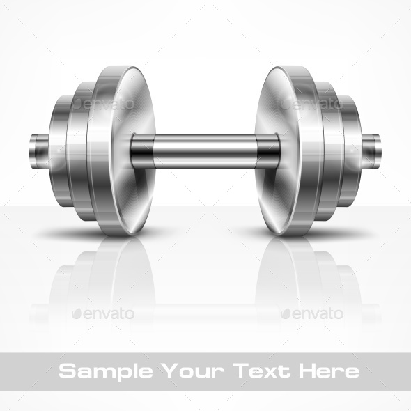 Metallic Dumbbell - Miscellaneous Vectors