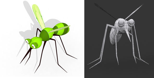 Mosquito 3d Model - 3DOcean Item for Sale