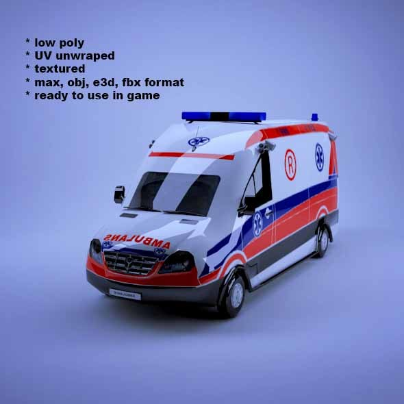 Ambulance - 3DOcean Item for Sale