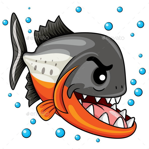 Piranha Cartoon - Animals Characters