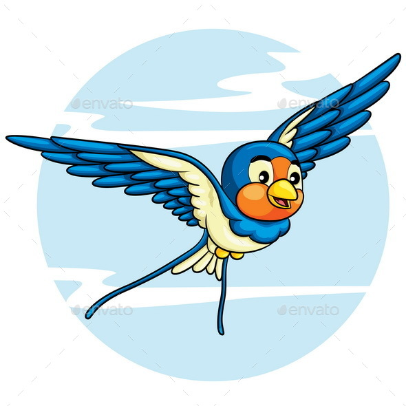Swallow Cartoon - Animals Characters