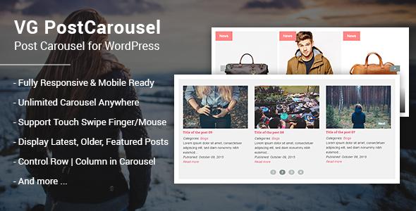 VG PostCarousel - Post Carousel for WordPress - CodeCanyon Item for Sale