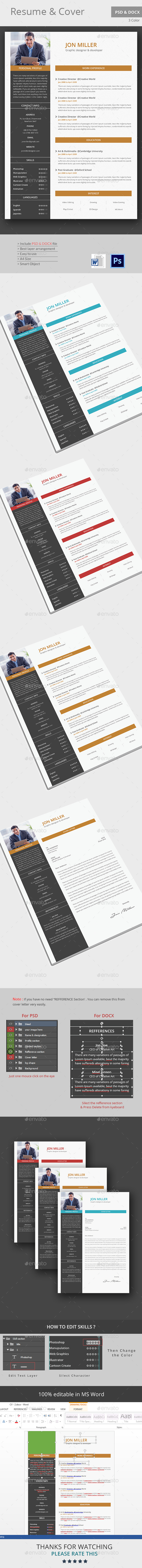 The CV - Stationery Print Templates