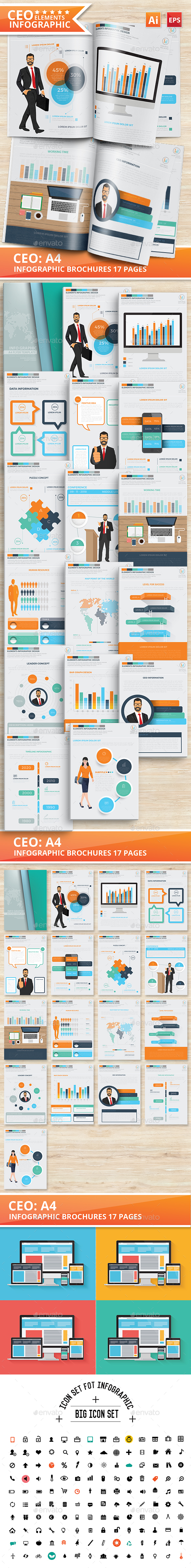 CEO Infographics Design 17 Pages - Infographics