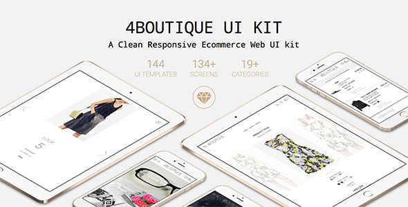 4Boutique - A Responsive Ecommerce Web UI KIT - Sketch Templates