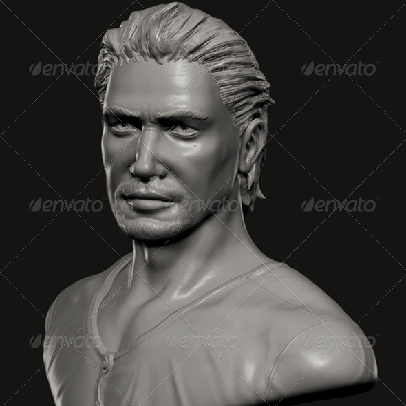 Male Celebrity Bust - 3DOcean Item for Sale