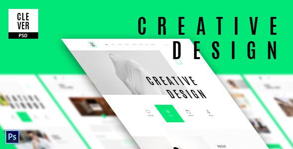 Clever – Creative & Design Portfolio Template