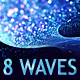 6 HD Abstract bokeh waves backgrounds - GraphicRiver Item for Sale