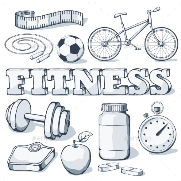 Fitness Concept - Sports/Activity Conceptual
